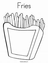 Coloring Fries Chips French Outline Noodle Twisty Twistynoodle Built California Usa Login Favorites sketch template