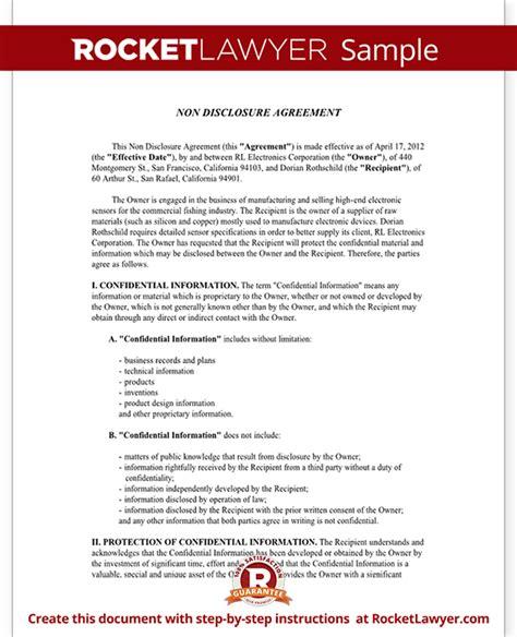 free non disclosure agreement template non disclosure agreement nda form create a free nda form