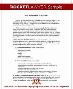non disclosure agreement nda form create a free nda form With non disclosure agreement document