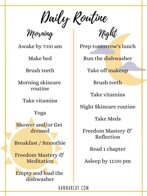 creating daily routines healthy morning routine routine