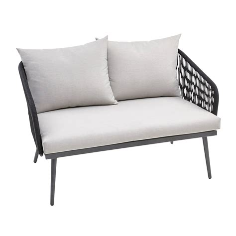 Black Settee by Helena Deluxe Black Settee With Cushions Pier 1 Imports