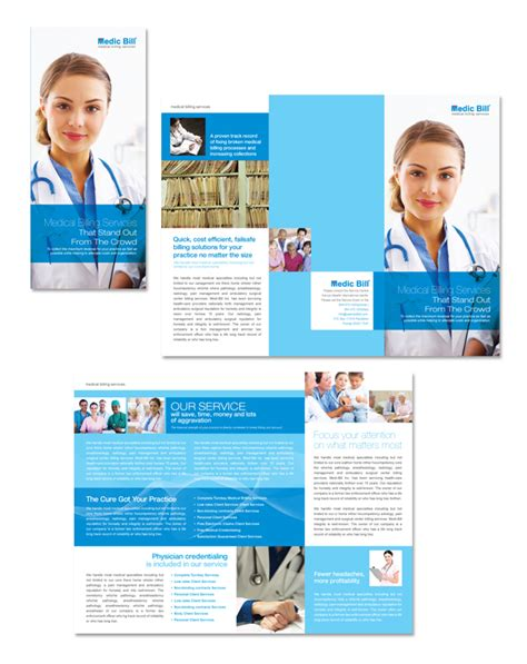 Healthcare Brochure Templates by Billing Services Tri Fold Brochure Template