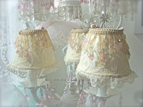 shabby pink chic silk chandelier l shade s