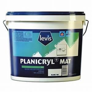 Peinture À L Eau Murale : peinture acrylique application murale 5 litres planicryl blanc levis bricozor ~ Melissatoandfro.com Idées de Décoration