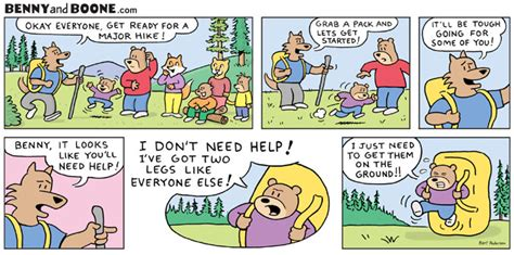 Hiking in the Rockies with Benny bear webcomic