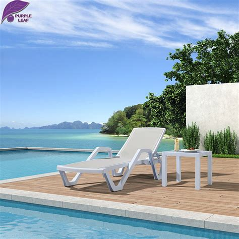 chaise longue de plage folding lounge chair outdoor promotion shop for