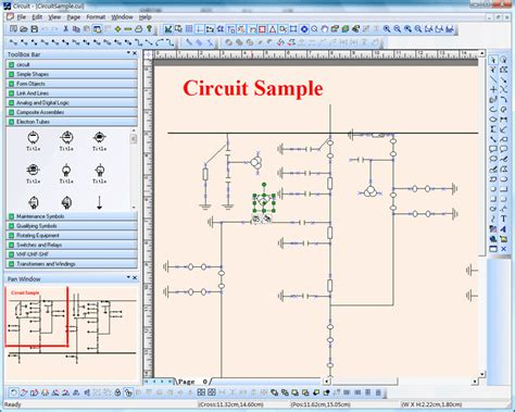 e xd electric power circuit diagram drawing simulation