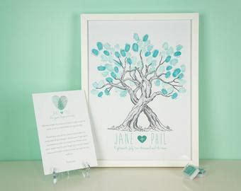 items similar to diy unique wedding guestbook idea signature fingerprint tree pdf file choose
