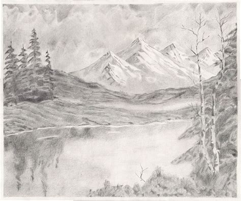 drawing landscapes  pencil bing images digis