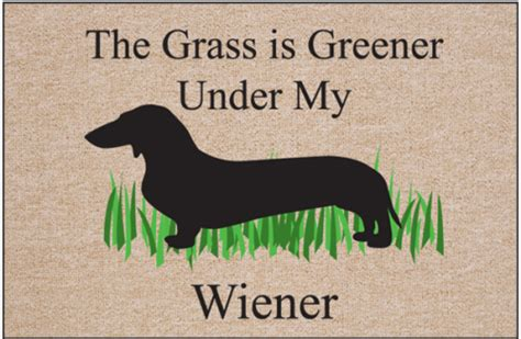 greener wiener doormat