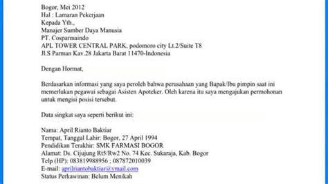Contoh Surat Lamaran Cpns Kemenristekdikti by Contoh Surat Lamaran Event Organizer