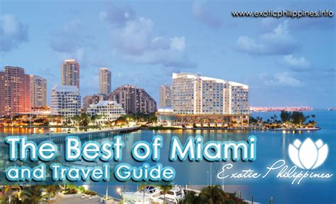 miami bureau of tourism the best of miami and travel guide philippines