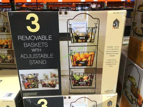 three tier floor l mesa delaware floor standing 3 tier baskets costcochaser