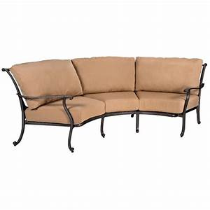 Woodard new orleans crescent sofa 3w0464 for Sectional sofas new orleans