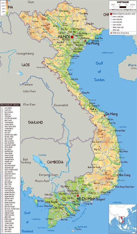 maps  vietnam detailed map  vietnam  english