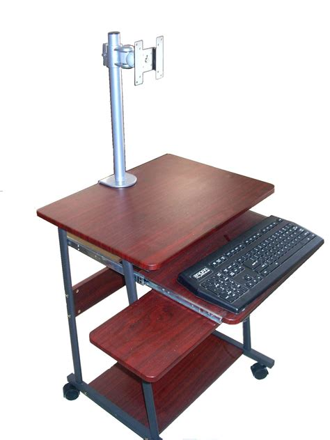 small computer desk sts5806 24 quot mini computer and laptop desk table with 2331