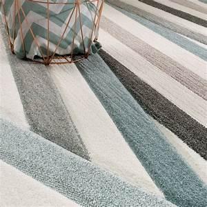 Teppich Zick Zack : designer teppich modern konturenschnitt pastellfarben ~ Lateststills.com Haus und Dekorationen