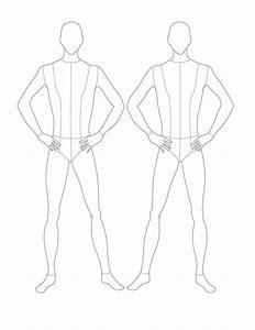 Croqui Fashion Model Templates | Male Flat Template ...