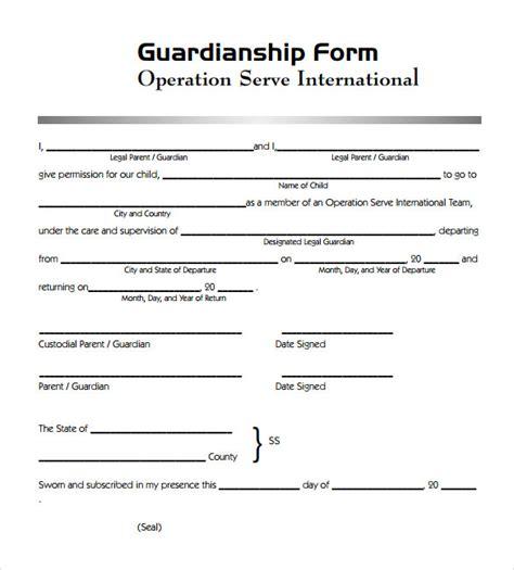 sample legal guardianship form   documents