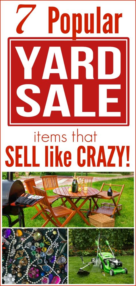 Backyard Sales by 7 Popular Yard Sale Items That Sell Like