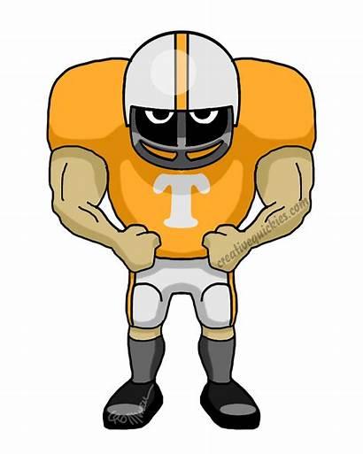 Tennessee Volunteers Football Knoxville Cartoon Cartoons Player