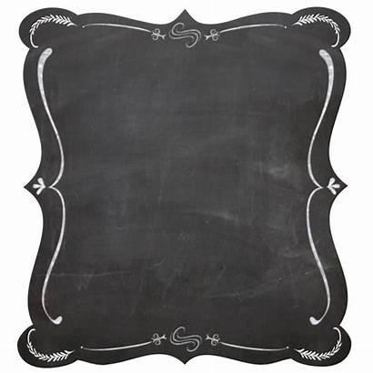 Chalkboard Clipart Frame Clip Background Blank Border