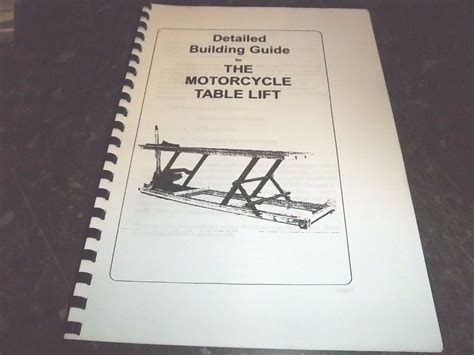 diy motorcycle lift bench table build   plans