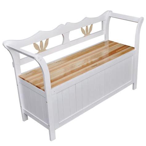 White Wood Storage Bench by Vidaxl Co Uk Vidaxl Storage Bench 126x42x75 Cm Wood White