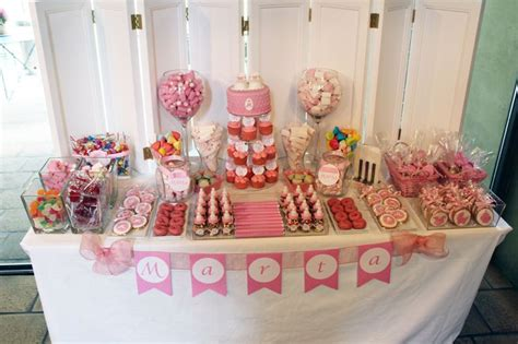 mesa dulce bautizo niña en tonos rosas MESAS DULCES