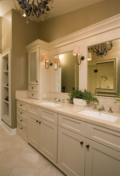 Pretty Beadboard Vanity Cabinet With Ceiling Lighting Sconce