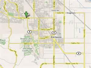 California Map Brentwood CA