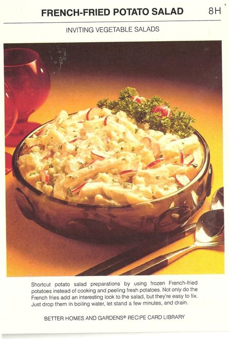 potato salad made with frozen fries i wouldn t