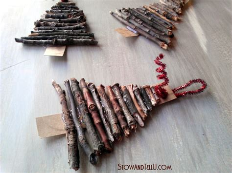 rustic twig christmas tree ornaments stowtellu