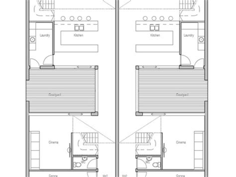 duplex floor plans for narrow lots narrow lot duplex home plans home design and style