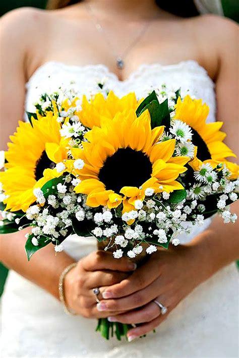 brilliant sunflower wedding bouquets  happy wedding
