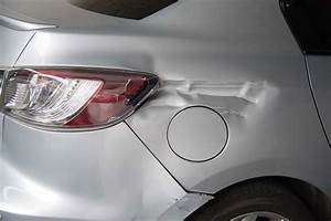 Silver Car Get Damaged By Hit And Run Accident On The Road