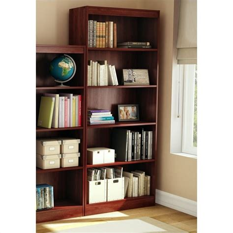 Cherry Bookcase by South Shore Office 5 Shelf Wall Royal Cherry Bookcase
