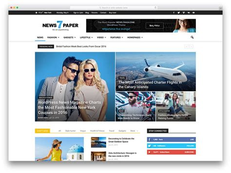 Best News Website Magazine Themes For Magazine Style Websites