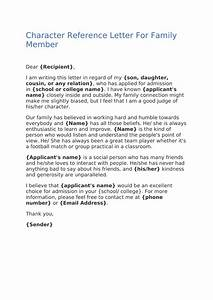 Character, Reference, Letter, For, Family, Member