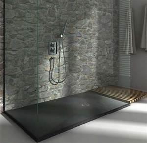 Bac Douche Italienne : receveur de douche extra plat finition pizarra de ~ Edinachiropracticcenter.com Idées de Décoration