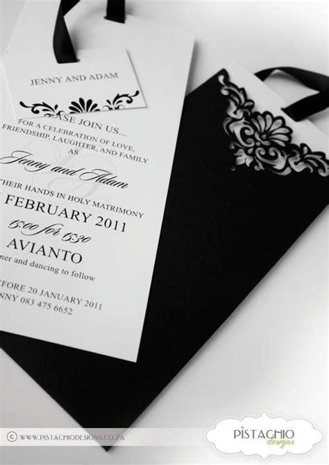 Wedding Invitation in Elegant Black Invitations Elegant