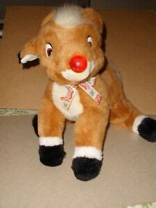 """Classic animated tale of rudolph the red nosed reindeer. Rudolph The Red Nosed Reindeer Plush Christmas 16"""" Musical ..."""