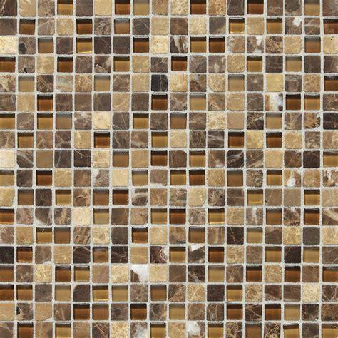 glass mosaic tile daltile radiance butternut emperador 12 in x 12 in