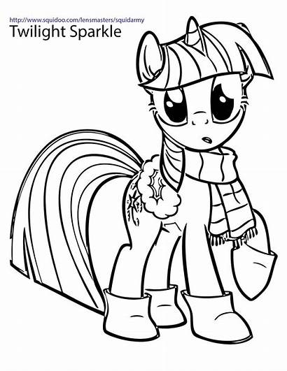 Pony Coloring Pages Christmas