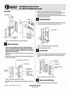 Installation Instructions For 38h 39h Mortise Locks