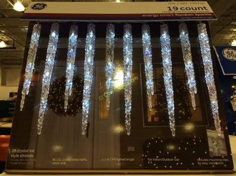 led twinkling icicle lights ge 19 count twinkling led molded icicle lights costcochaser