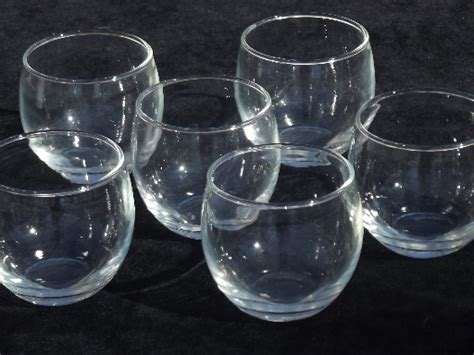 roly poly rocks glasses retro mid century vintage bar