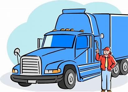Driver Truck Clipart Clip Drivers Vehicle Hazmat