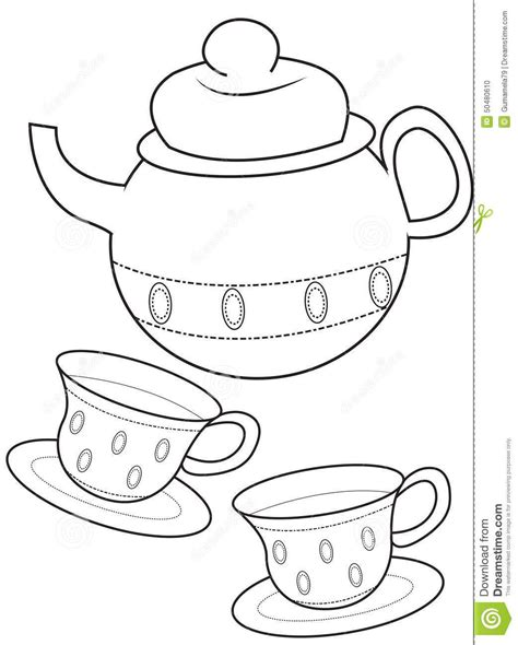 Httpthumbsdreamstimecomzteacup Coloring Page Useful