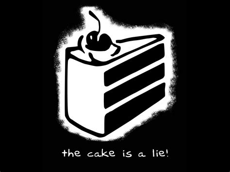 the cake is a lie image the cake is a lie jpg glee wiki